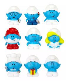 Os Smurfs Micro Vila Coleção Completa 9 Bonequinhos Oficiais