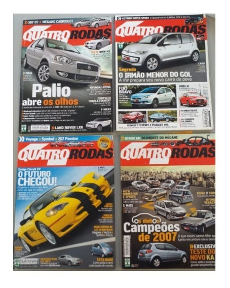 12 Revistas Quatro Rodas Edições Antigas