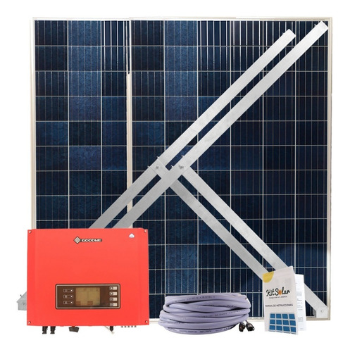 Kit Solar On Grid Completo 2x330w Inyeccion A Red 220v 7on