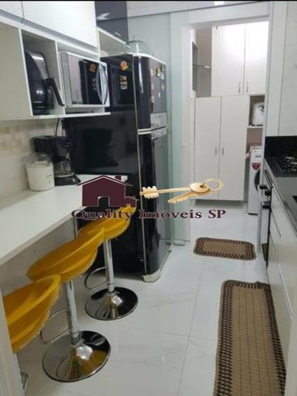 Apartamento Bairro Sacomã, 48 M², 01 Vaga Livre, Por R$ 215.000 - Qy3950