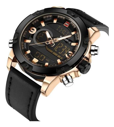 Naviforce 9097 Reloj Hombre Analogo Digital Dual Hebilla