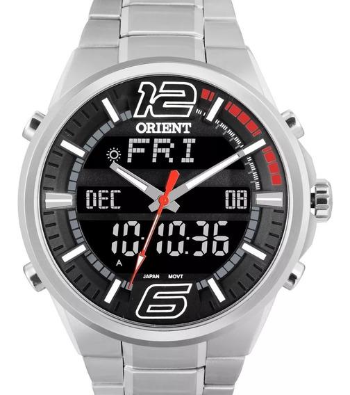Relógio Orient Masculino Anadigi Prata - Mbssa047 Pvsx