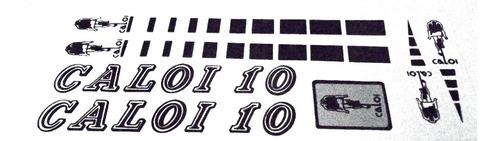Adesivo Caloi 10 Retro Preto Vinil .