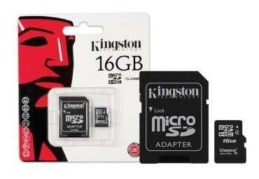 Cartao De Memoria Classe 4 Kingston Sdc4 Micro Sdhc 16gb