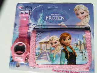 Frozen Elsa Kit Carteira + Relógio Elsa + Brinde