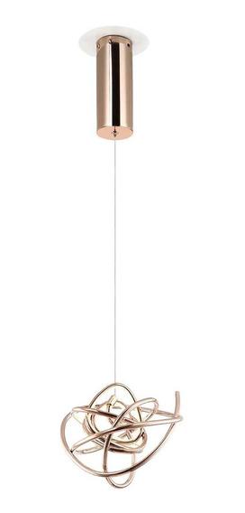 Pendente Moderno Luminária Ninho Wd017s Bivolt 12w 23cm Gold Rose Bella