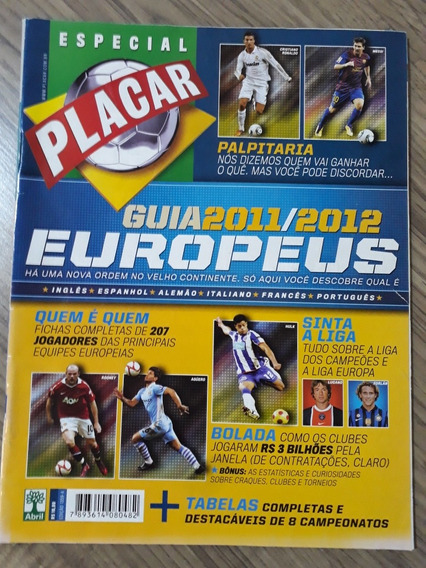 Revista Placar Guia Campeonatos Europeus 2011 2012 + Tabela