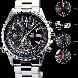 Reloj Casio Para Hombre Ef-527d-1avef/ Pantalla De Neon