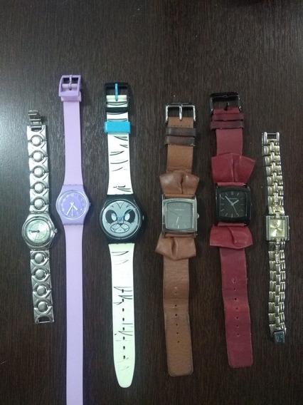 Relógios Femininos: 3 Swatch, 2 Chilli Beans E 1 Séculus