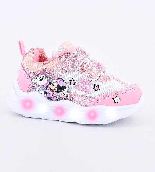 Zapatillas Footy Disney Minnie Unicornio Rosa Con Luces 302