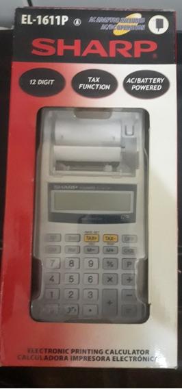 Calculadora Impressora Eletrônica Sharp El 1611p