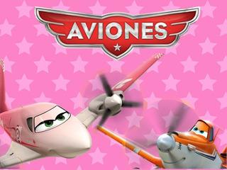 Kit Imprimible Candy Bar Aviones Rosa Disney Golosinas