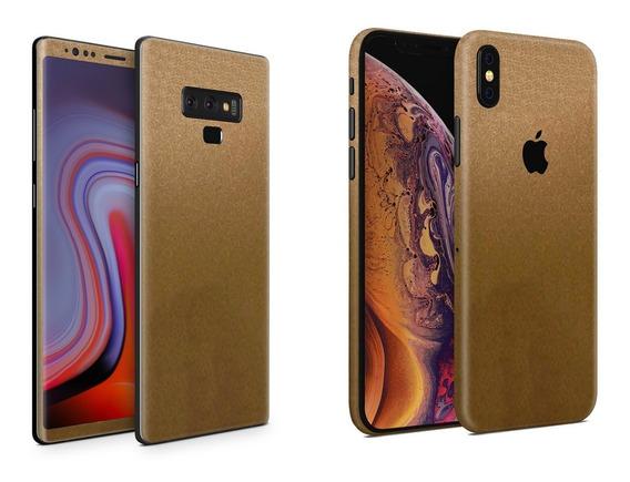Skin Dorado Metalico Apple Samsung Huawei Lg Sony Xiaomi Etc