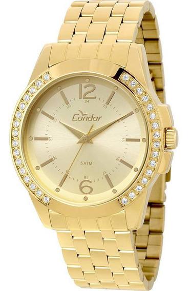 Relógio Condor Feminino DouradoCo2035kou/4d