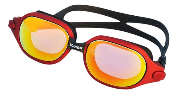 Impermeável E Anti-nevoeiro Pc Óculos De Natação Vermelho