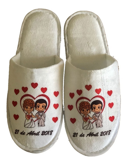 Pantuflas Personalizadas Matrimonios, Bodas ,recuerdos