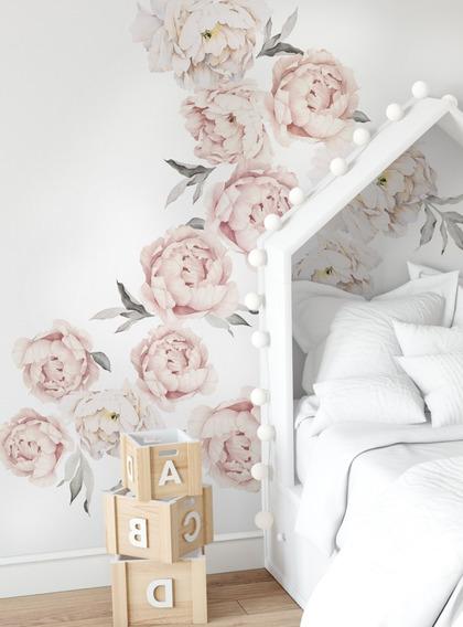 Vinilos Decorativos Pared Flores Peonias De 100x70 Cm Fg10