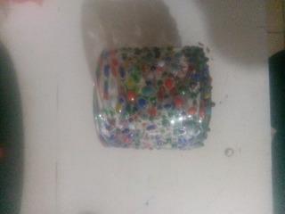 Vaso Mini Vidrio Soplado De Colores