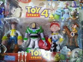 Kit Toy Story Bonecos Personagens Woody Buzzlightyear Jessie
