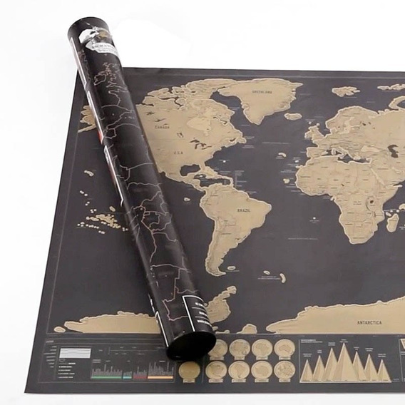 Mapa Para Raspar Mapamundi Scratch Planiferio Deluxe 82x59cm