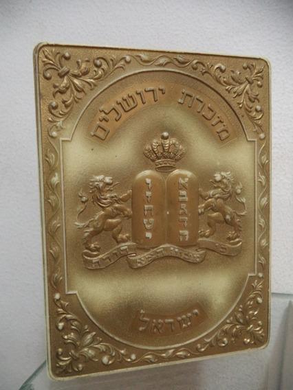 Caixa De Acrilico Antiga Tampa Judaica