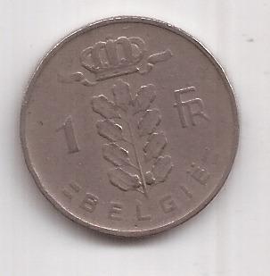 Belgica Antigua Moneda De 1 Franco Año 1960 Belgie