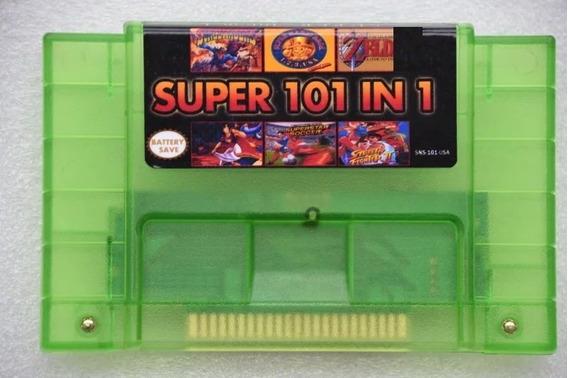 Cartucho Super Nintendo Snes 101 Jogos Zelda Mario Metroid