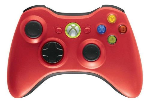 Imagen 1 de 2 de Control joystick inalámbrico Microsoft Xbox Mando inalámbrico Xbox 360 red limited edition