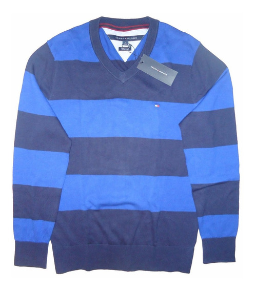 Chaleco / Sweater Rayas Azul Tommy Talla M / Rabstore