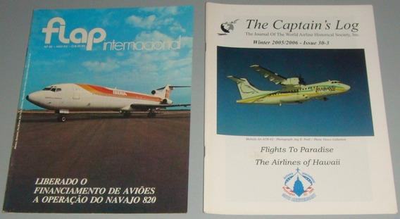 Avião - Lote Com 10 Revistas Antigas (?) De Aviação