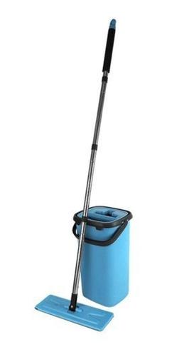 Imagem 1 de 5 de  Kit Mop Flat Tira Pó + Balde Espremedor Ideal