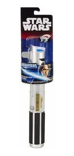 Star Wars Extendable Lightsaber Azul B2912 Envio Full