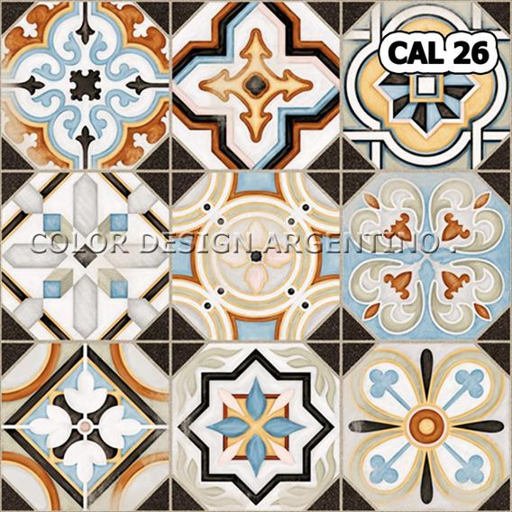Azulejos Deco Autoadhesivos Diseño Vintage 30x30 X 12 Unid