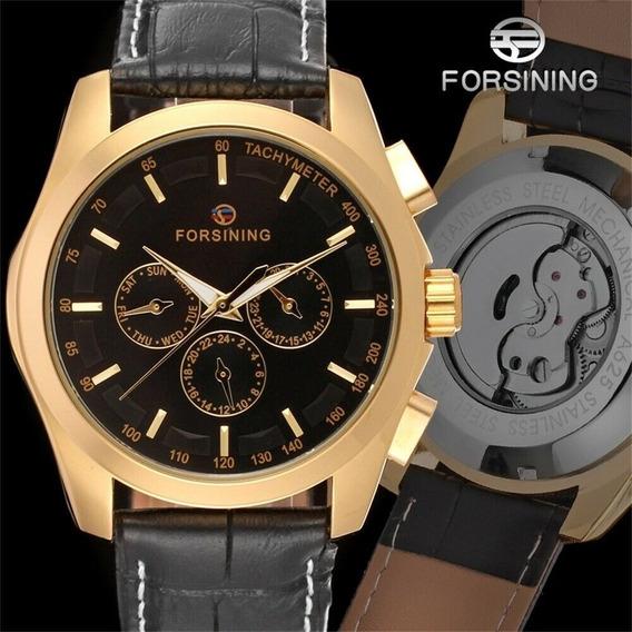 Reloj Mecanico Automatico Negro Elegante + Envio Gratis