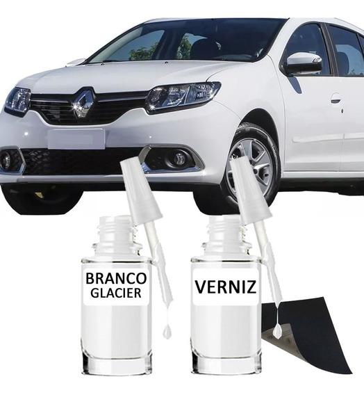 Tinta Tira Risco Automotivo Renault Sandero Branco Glacier