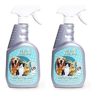 Imagen 1 de 2 de Eliminador De Olores Y Desinfectante Hábitat Gatos Perro 2u.