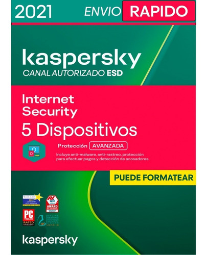 Imagen 1 de 4 de Kaspersky Internet Security 5 Pc 1 Año Licencia Original