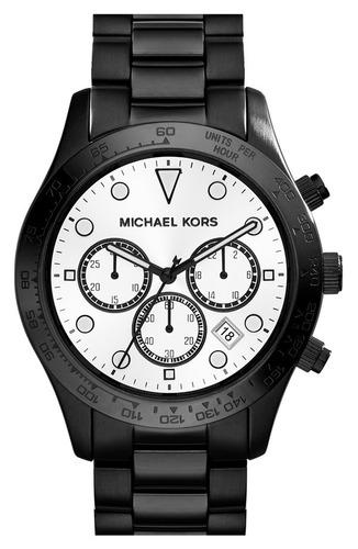 Relógio Michael Kors Mk6083 Layton Orig Chron Anal Black
