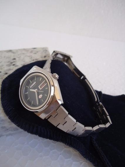 Relógio Citizen Quartz Feminino De Pulso Prata E Preto Usado