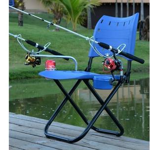 Cadeira Pesque Pague Suporte Vara Porta Isca / Lata Completa