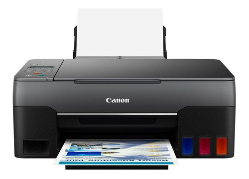 Imagem 1 de 4 de Impressora a cor multifuncional Canon Pixma G3160 com wifi preta 110V/220V