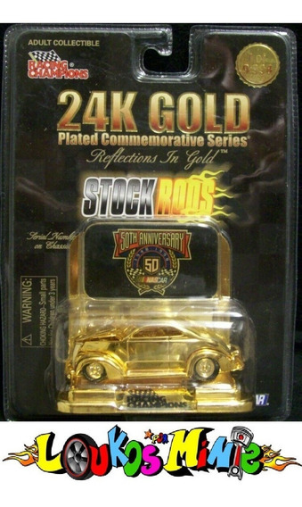 Racing Champions ´32 Ford Coupe Nascar #13 24k Gold Lacrado