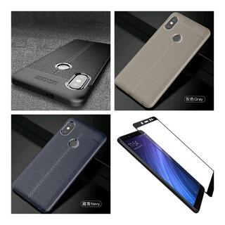 Funda De Silicona Para Xiaomi Note 5 + Templado Full Cover