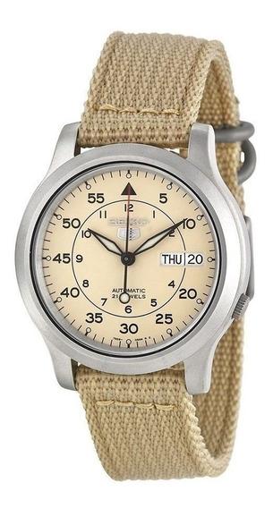 Reloj Seiko 5 Snk803 Automatico Beige