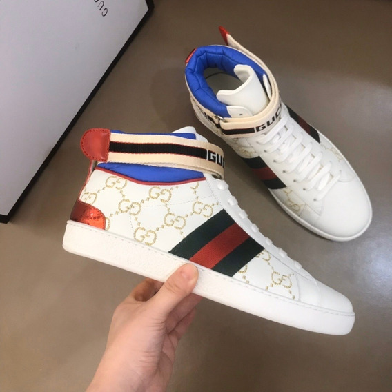 Tenis Gucci Ace Stripe High-top Sneaker 14