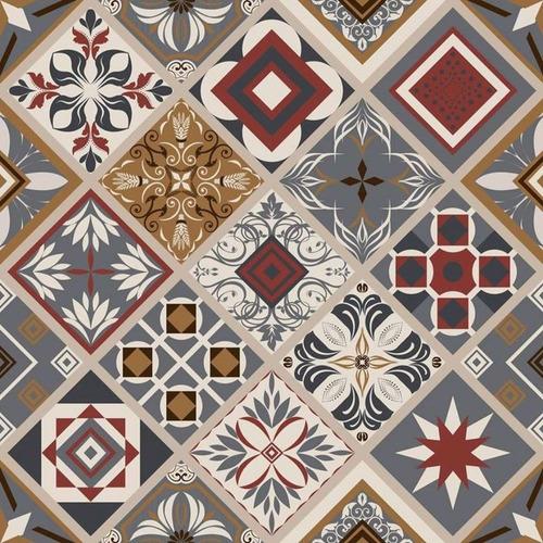 Imagem 1 de 1 de Plástico Adesivo Contact 45cm X 10m Azulejo Istambul 250062c