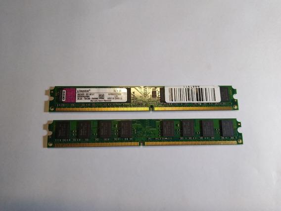2 Módulos De Memoria Ram Ddr2 2gb 800 Mhz Kingston C/u