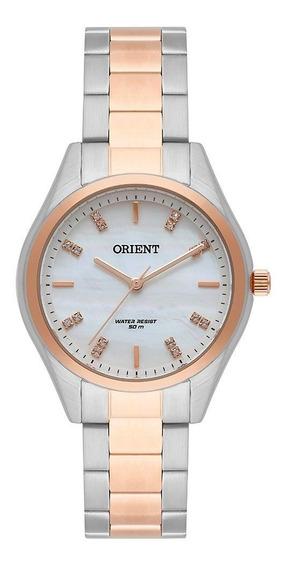 Relógio Orient Feminino 34mm Madriperola Fgssm061-c1kx Wr50m