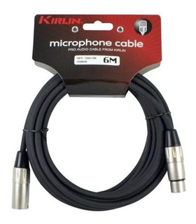 Cable Micrófono Kirlin 6 Mts Xlr-xlr - Queen Instrumentos Mu