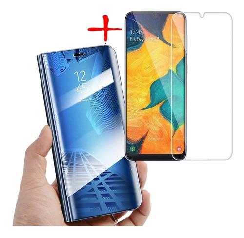 Funda Estuche Flip Cover De Lujo + Vidrio 2d Samsung A50
